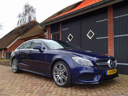 2015 Mercedes CLS400 Cavansite blue AMG pakket